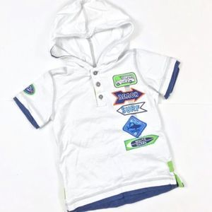 Kids Headquarters Short Sleeve Hooded T-Shirt Top